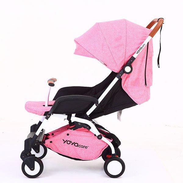 Yoya Care 2018 Pink Розовая Прогулочная детская коляска-трансформер 2 в 1 Алюминиевая