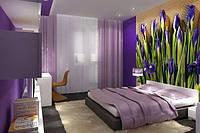 3D флизелиновые фотообои в спальню