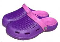 Тапочки женские сабо ЕВА FX Shoes фиолетовые, фото 1