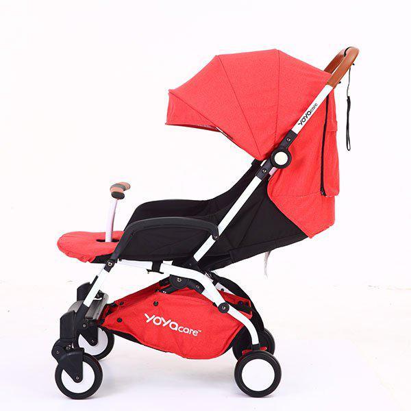 Yoya Care 2018 Red Красная Прогулочная детская коляска-трансформер 2 в 1 Алюминиевая