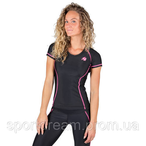 Футболка Gorilla Wear Carlin Compression Short Sleeve Top - Black/Pink 91510906