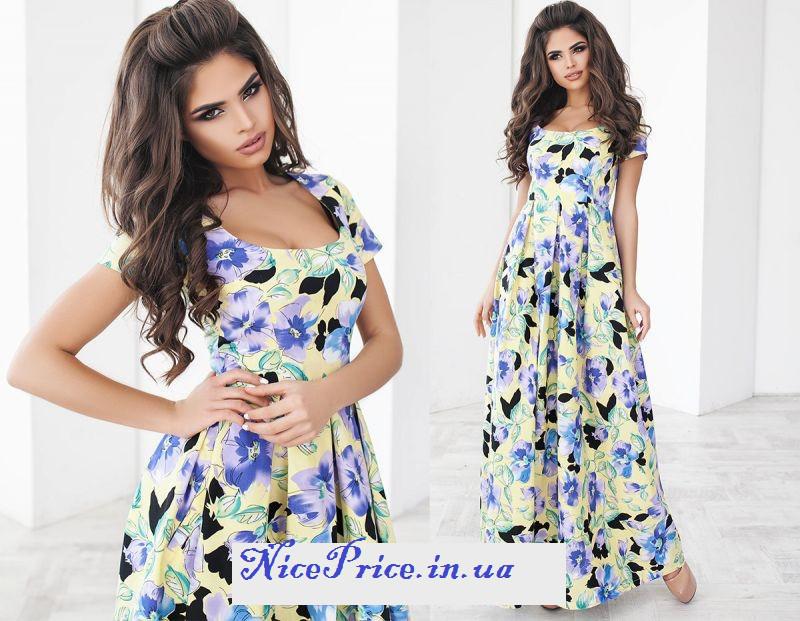 Шикарное длинное летнее платья S M L