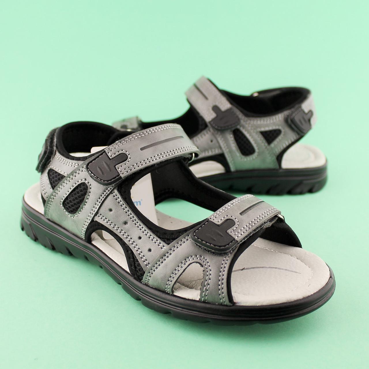 Подростковые сандалии на мальчика Серые тм TOMM размеры 36,38