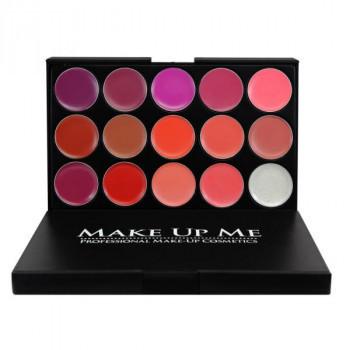 Профессиональная палитра помад для губ 15 цветов Make Up Me №1