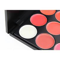 Профессиональная палитра помад для губ 15 цветов Make Up Me №1, фото 2
