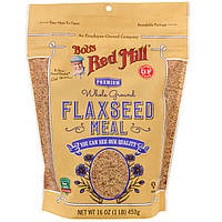 Bob's Red Mill, Премиальный продукт из муки льняного семени, 16 унции (453 г)