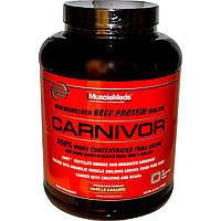 MuscleMeds, Carnivor, изолят белка говядины биоинженерной обработки, с ванильной карамелью, 4.2 фунта (1904 г)