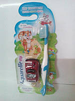 Зубні щітки STS дитячі з автомобілем 4-х кольорів