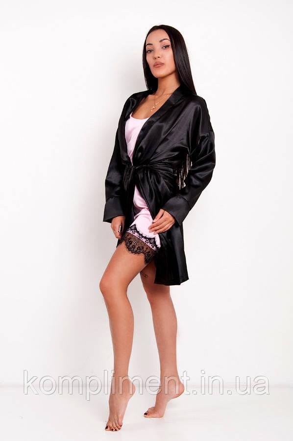 Комплект Грейс DONO, чёрный/розовый