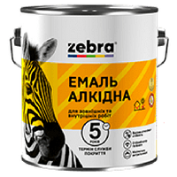 """Эмаль ПФ-116 """"Зебра"""" белая (глянцевая) 2,8 кг"""