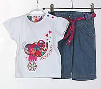 Детский летний комплект: футболка, джинсы для девочки 6 мес., 9 мес Losan Испания