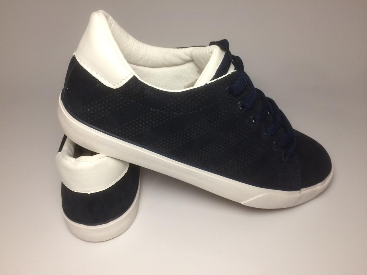 Летние темно-синие кеды мужские кроссовки   Кросівки кеди чоловічі темно- сині - KVARTAL 93c9734faccf3