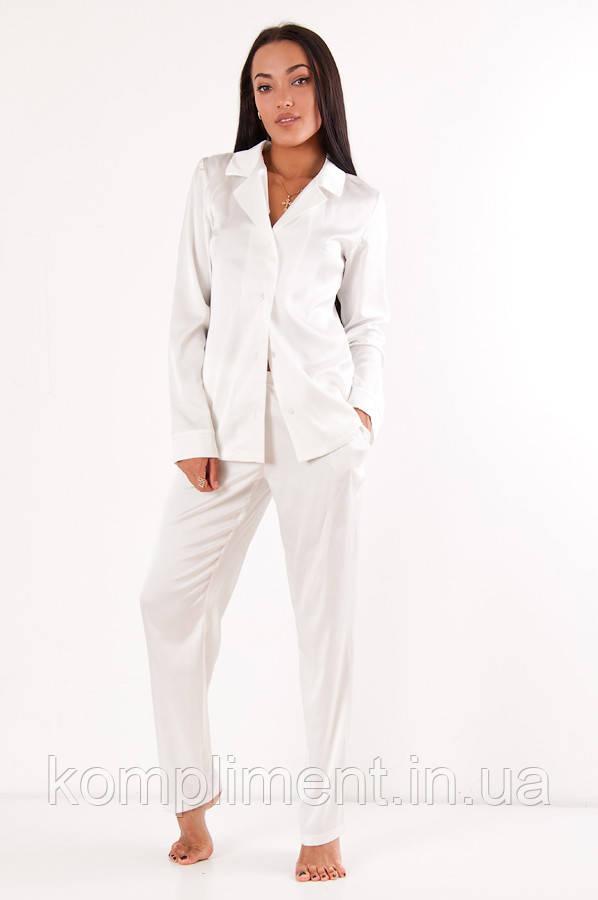 Пижама женская атласная Молли DONO, белый