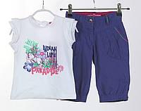Детский летний комплект: футболка, бриджи для девочки 2, 3, 4 ,5 ,6, 7 лет Losan Испания