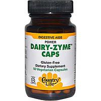 Country Life, Молочные капсулы Zyme, 50 растительных капсул