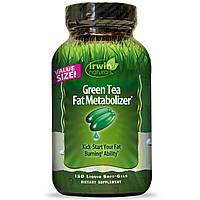 Irwin Naturals, Зеленый чай для жирового обмена, 150 мягких капсул с жидкостью
