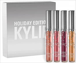 Жидкая матовая помада KYLIE Matte Holiday Edition набор 4 шт цвета