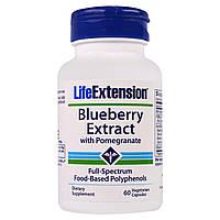 Life Extension, Экстракт черники с гранатом, 60 вегетарианских капсул