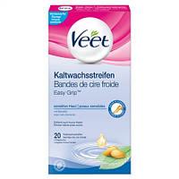 """Veet EasyGrip™ Kaltwachsstreifen """"sensitive Haut"""" Beine & Körper - Полоски с холодным воском для депиляции ног"""