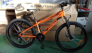 Горный спортивный велосипед 24 дюймов Azimut Extreme (оборудование SHIMANO) оранжевый