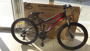 Горный спортивный велосипед 24 дюймов Azimut Extreme (оборудование SHIMANO) черный
