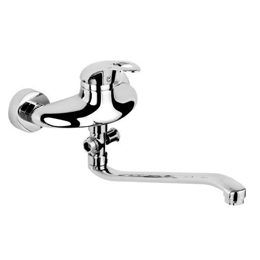 GRAZIA смеситель для ванны однорычажный, S-излив 350 мм, хром  40мм
