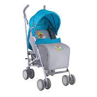 Коляска прогулочная Bertoni FIESTA blue&grey hello bear