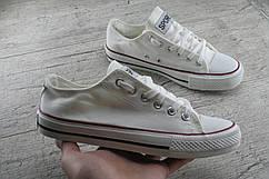 Кеды, кроссовки белые под Converse унисекс, обувь спортивная, повседневная