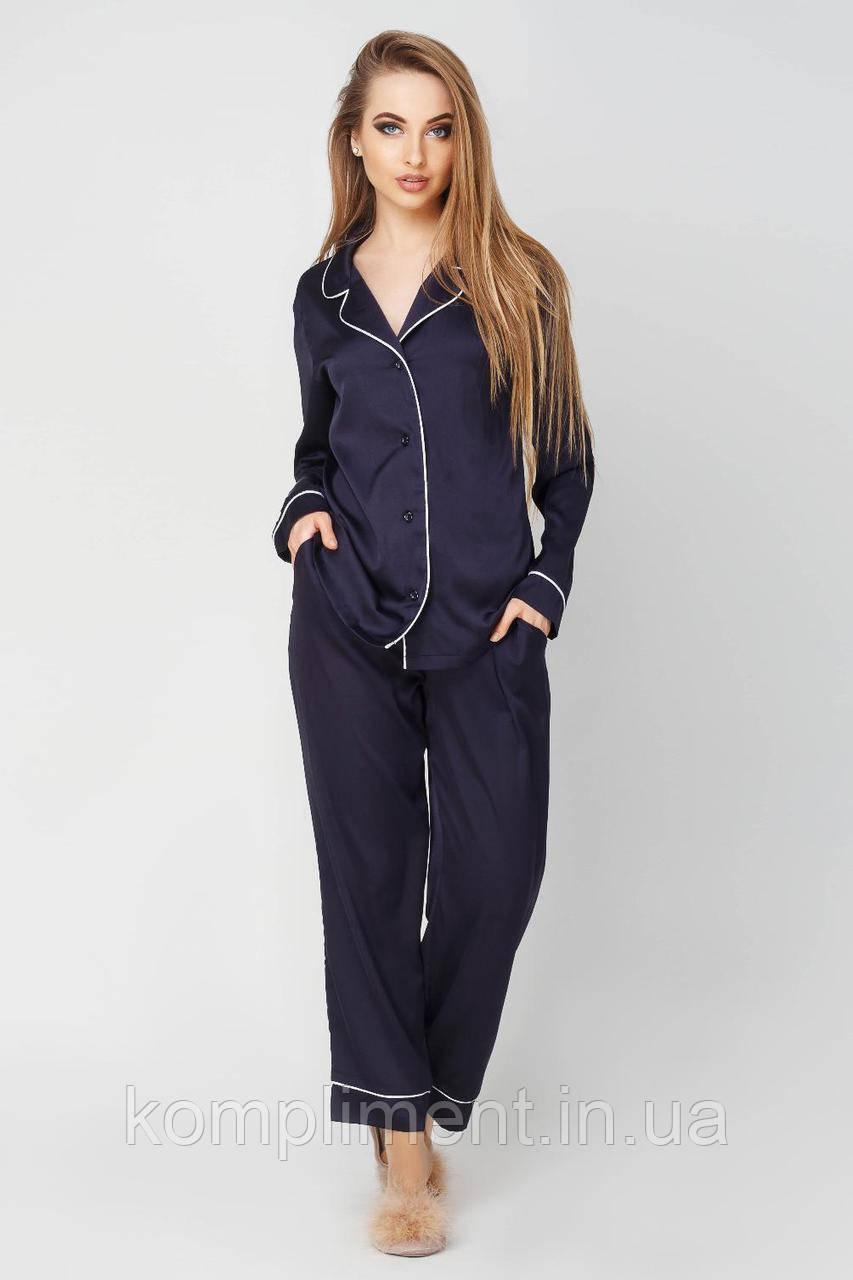 Пижама шелковая  Кристи DONO, синий
