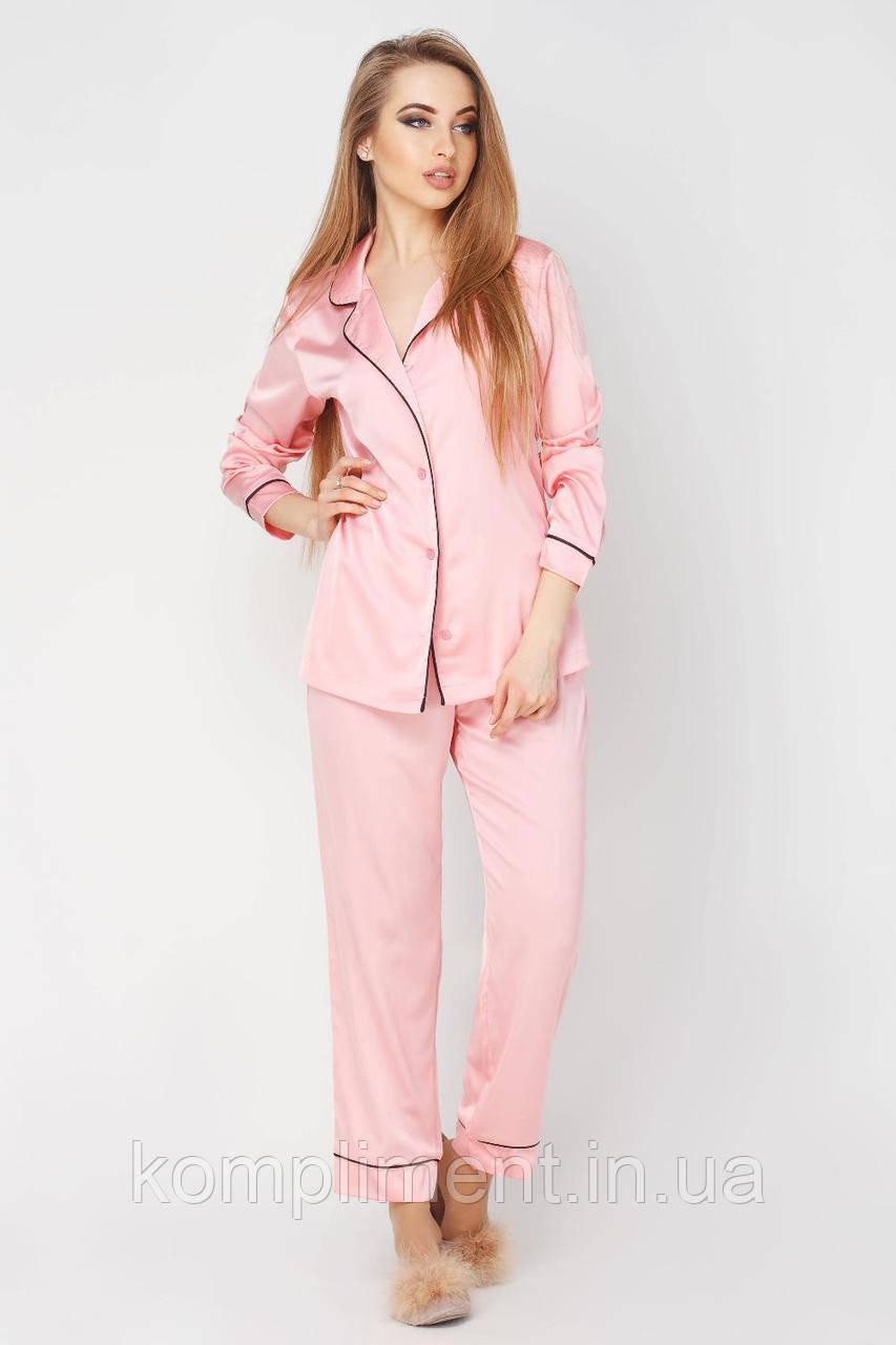 Шовкова піжама Крісті DONO, рожевий