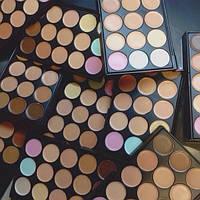 Корректоры консилеры Mac Cosmetics 15 оттенков + Тени для макияжа 15 штук цветов Mac Cosmetics матовые палитра, фото 2