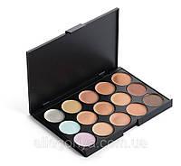 Корректоры консилеры Mac Cosmetics 15 оттенков + Тени для макияжа 15 штук цветов Mac Cosmetics матовые палитра, фото 4