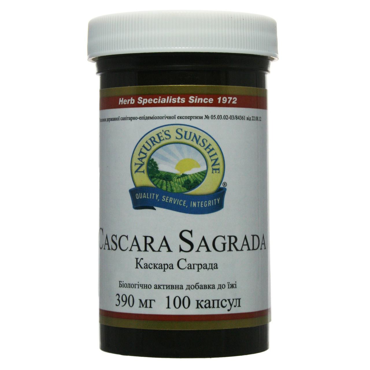 Каскара Саграда при запорах, 390 мг, 100 капсул, Casсara Sagrada, NSP, США