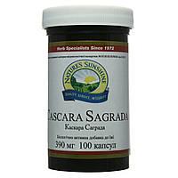 Каскара Саграда при запорах, 390 мг, 100 капсул, Casсara Sagrada, NSP, США, фото 1