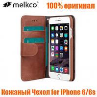 Кожаный Чехол Melkco Premium Wallet для iPhone 6-6S brown, 100% оригинал!