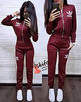 Костюм Adidas женский модный кофта на молнии и брюки трикотаж джерси разные цвета Df863