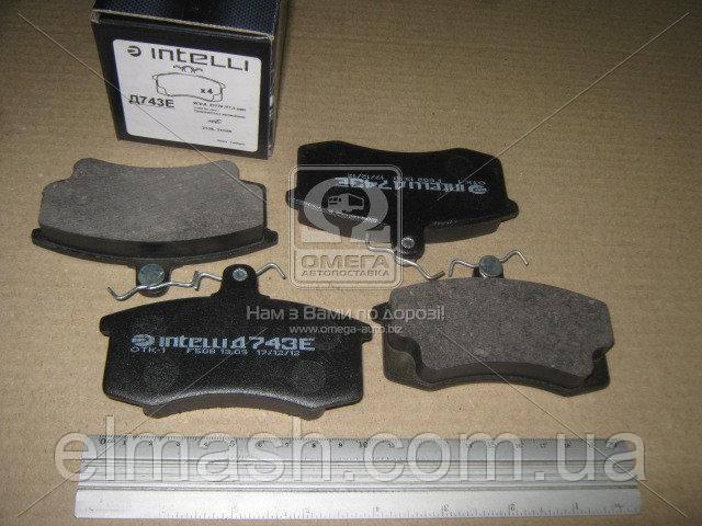 Колодка гальмівна передня ВАЗ 2108 (компл. 4шт.) (пр-во Intelli)