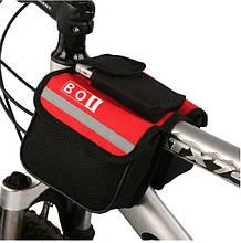Велосипедная сумка на раму BOI. Велосипедный органайзер. Велосумка