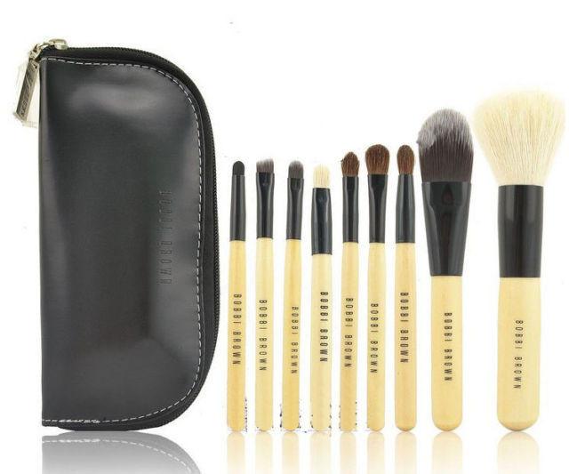 Набор кистей для макияжа Bobbi Brown 9 шт + чехол в  ПОДАРОК!!!