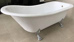 Ванна 176*73*73/58см, отдельно стоящая на львиных лапах (серебро), акриловая, фото 2
