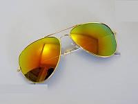 Очки капли Aviator солнцезащитные Orange G 2017