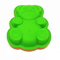 """Силіконова форма для випічки """"Ведмедик"""" 27 см 23,5 см"""
