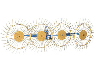 Грабли-ворошилки (Солнышко) 4-х колесные толщина граблины 6,0 мм для минитрактора Агромарка