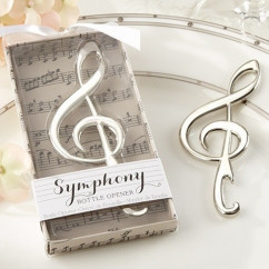 Подарки гостям на свадьбе - Открывалка Скрипичный ключ