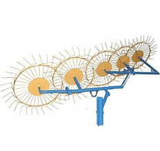 Грабли-ворошилки (Солнышко) 5-ти колесные толщина граблины 5,0 мм для минитрактора Агромарка