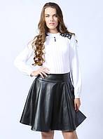 Женская стильная блуза белого цвета с длинным рукавом. Модель 426 Mirabelle