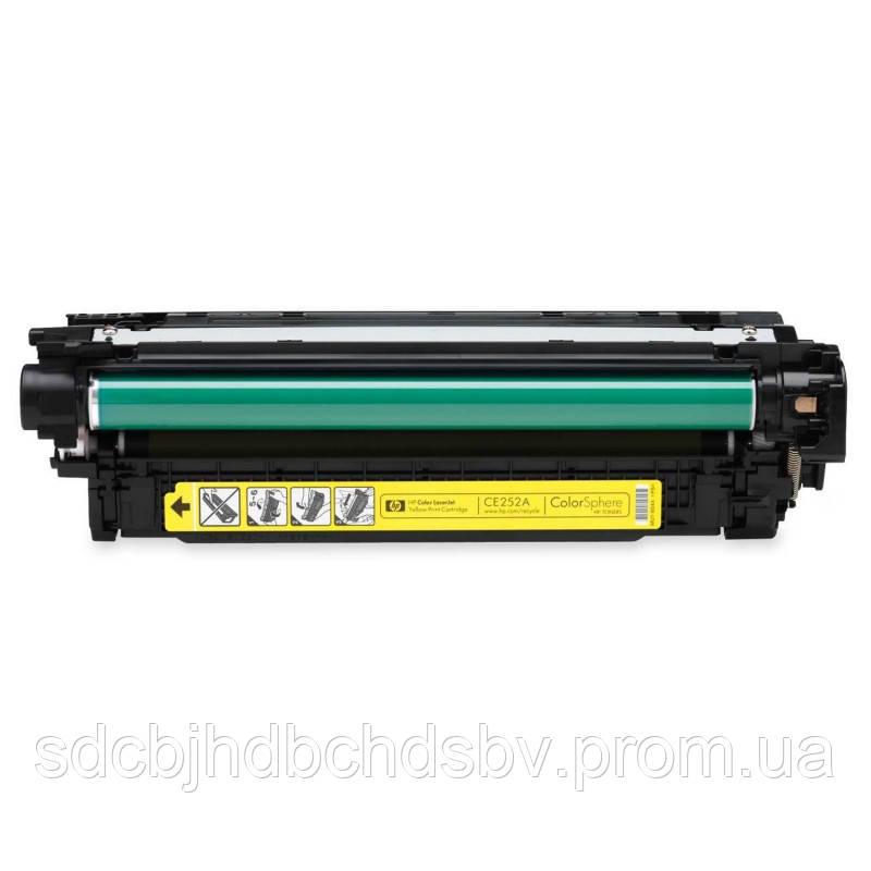 Картридж HP CE252A (№504A) Yellow для принтера HP Color LaserJet CM3530 MFP,HP Color LaserJet CM3530fs MFP