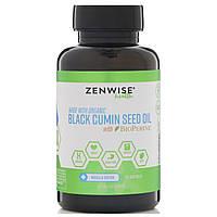 Zenwise Health, Органический продукт, масло семян черного тмина, с BioPerine, 120 мягких таблеток
