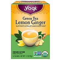 Yogi Tea, Органический Зеленый Чай и Имбирем и Лимоном, с Кофеином 16 чайных пакетиков, 1.12 унции (32 г)