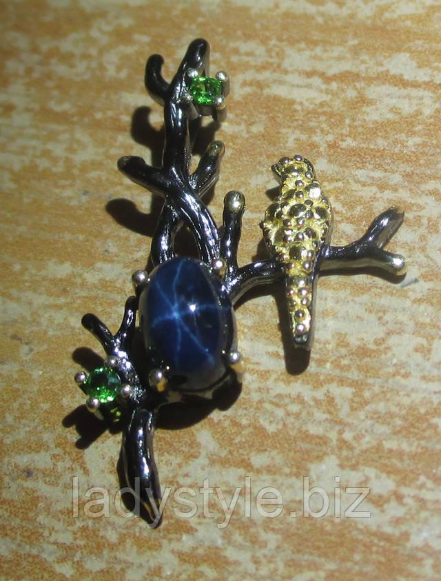 серебро кулон подвеска купить украшения сапфир звезда подарок юбилей признание в любви